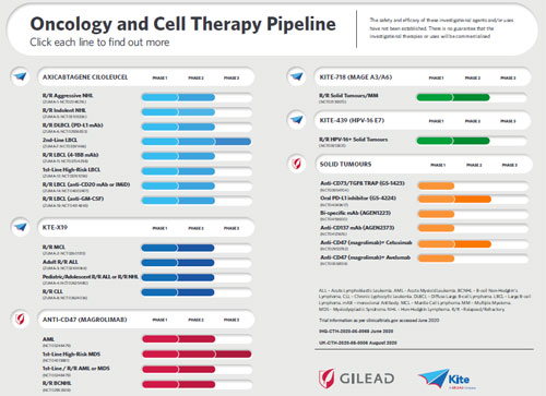 Oncology and Cell Therapy Pipeline